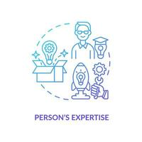 Person expertise navy gradient concept icon vector