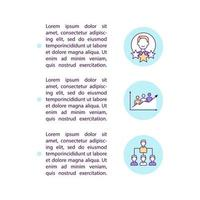 Public authority concept line icons with text. PPT page vector template with copy space. Brochure, magazine, newsletter design element. Teamwork, cooperation linear illustrations on white