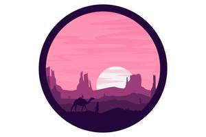 T-shirt desert sandstone mountain landscape vector