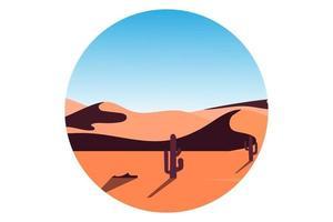 T-shirt desert cactus nature landscape vector