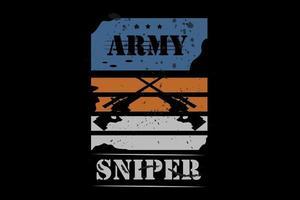 francotirador del ejército color azul y naranja vector