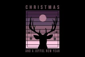 christmas  and a joyful new year color purple and pink vector