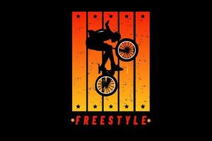freestyle color orange and yellow vector