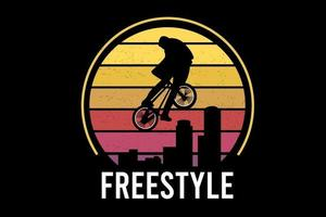 freestyle color yellow and orange vector