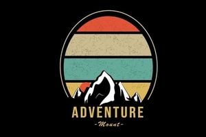 adventure mount color orange and yellow green vector