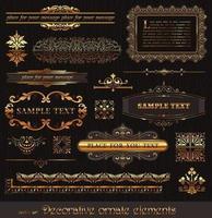 vintage gold calligraphy element vector