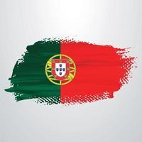 pincel de bandera de portugal vector