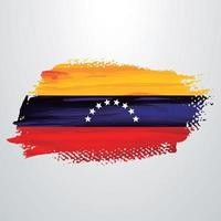 cepillo de bandera de venezuela vector