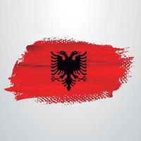 Albania flag brush vector