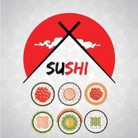 Sushi Logo Restaurant vector