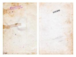 conjunto de páginas de libros de escuela primaria desechadas vintage foto