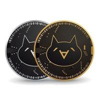 Monacoin gold and silver cryptocurrency vector