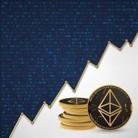 Ethereum Digital cryptocurrency vector