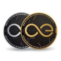 Aeternity gold and silver cryptocurrency vector