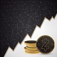 Zcash Digital cryptocurrency vector