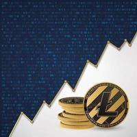 Litecoin Digital cryptocurrency vector
