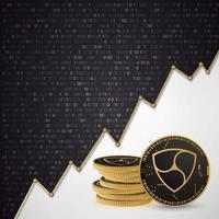 Nem Digital cryptocurrency vector