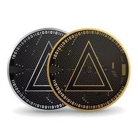 Salt gold and silver cryptocurrency vector