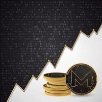 Monero Digital cryptocurrency vector