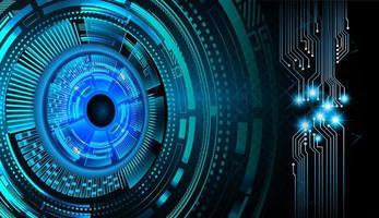 eye Closed Padlock on digital background cyber security photo