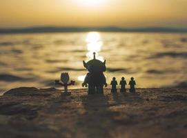 Warsaw - 2020 - lego toy story minifigures watching the sunset photo