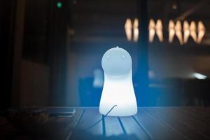 Ghost shaped light in Taipei in Taiwan photo