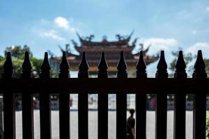 el templo longshan mengija en taipei en taiwán foto