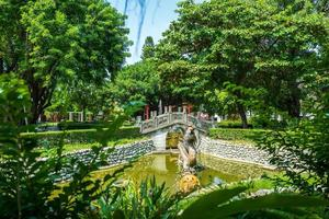 Park at Confuciuns temple in Tainan in Taiwan photo