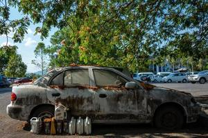 A broken car near the Lagenda park photo