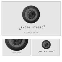 Camera Zoom Lens.Photo studio logo and business card template. vector