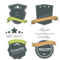 Collection of vintage labels and ribbons. vector
