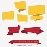 Origami Ribbon Vector Set