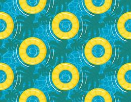 Rubber ring or inflatable ring vector seamless pattern