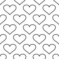 Modern banner with seamless pattern of hearts vector
