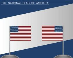 The national flag of america vector