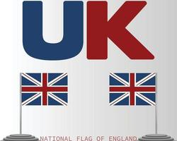 The national flag of england vector design
