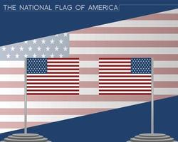 The national flag of america vector design