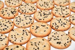 Crackers with sesame seeds photo