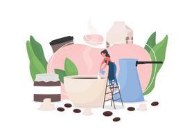 Ilustración de vector de concepto plano de barista