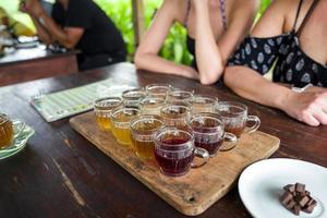 Coffee and tea tasting in Bali photo