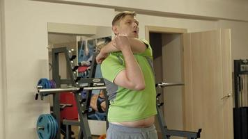 The man in the gym Fitness and sport Healthy lifestyle video