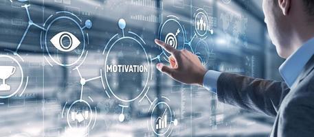 Motivation personality development concept photo