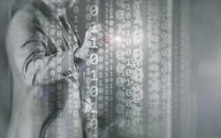 Media binary code concept photo