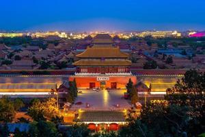 la ciudad prohibida vista desde la colina jingshan foto