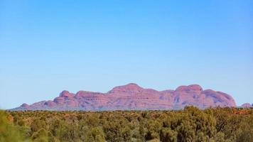 Kata Tjuta from Ayers Rock Airport Northern Territory Australia photo