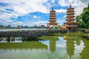 Torre del tigre dragón en Kaohsiung, Taiwán foto
