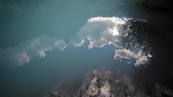 Landscape and nature surrounding Lago di Sorapiss lake in Italy. video
