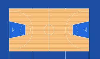 Ilustración de vector de cancha de baloncesto con marcas de fiba antiguas