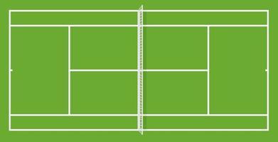 vector tennis court top view illustration