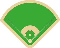 vector illustration baseball field top-view